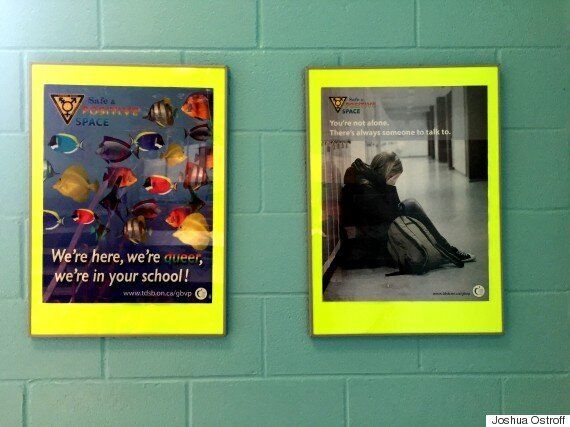 QSA posters in the City View stairwell.