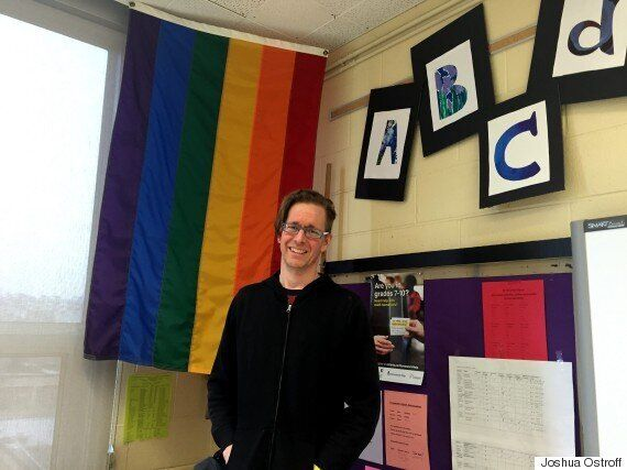 Grade 8 teacher David Stocker also helps run City View's Queer-Straight Alliance club.