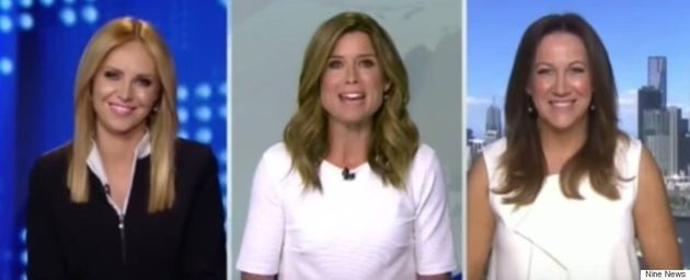 3 Women On Australian TV All Wore White Shirts On TV And Things Got