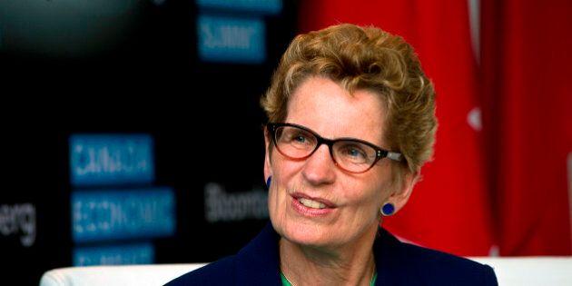 Kathleen Wynne, premier of Ontario, speaks at the Bloomberg Canada Economic Summit in Toronto, Ontario,...