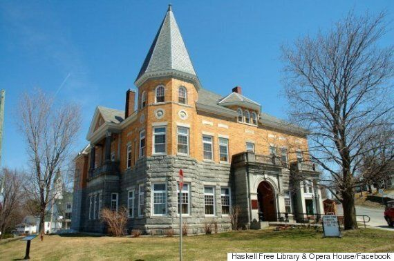 Haskell Free Library And Opera House Straddles The Canada-U.S.