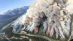 LOOK: Banff Wildfire Burning Very Hot, Very