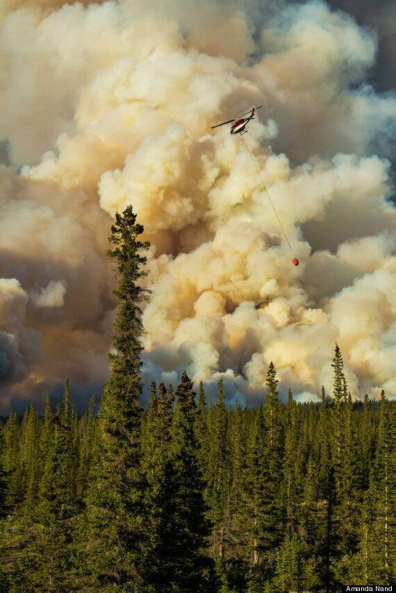 Spreading Creek Wildfire Rips Through Banff National Park (PHOTOS,