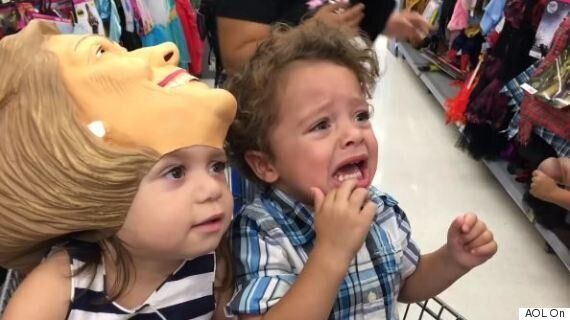 Trump Mask: Toddler's Reaction To Halloween Costume Is Every