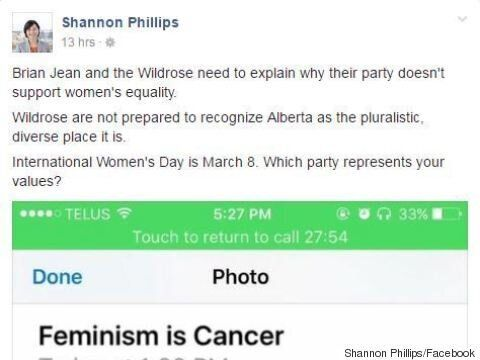 'Feminism Is Cancer': Wildrose On Campus In Hot Water Over