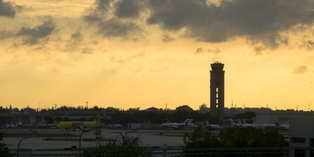 FORT LAUDERDALE, FLORIDA - JANUARY 06: A view from Fort Lauderdale International Airport after all incoming...