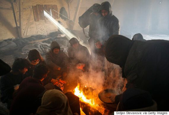 Refugees Risk Freezing To Death In Serbian