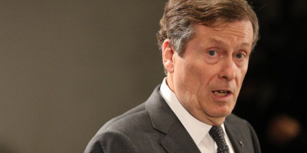 TORONTO, PQ- NOVEMBER 24 - as Mayor John Tory announced support for a hotel tax and other revenue tools...