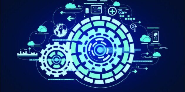 Technology development communication concept