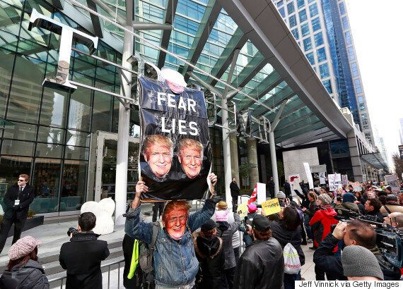 Trump Siblings Greeted With Protests At Vancouver Tower