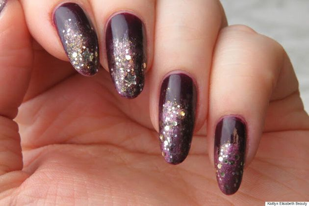 Sparkle On New Year's Eve With A Glitter Ombré