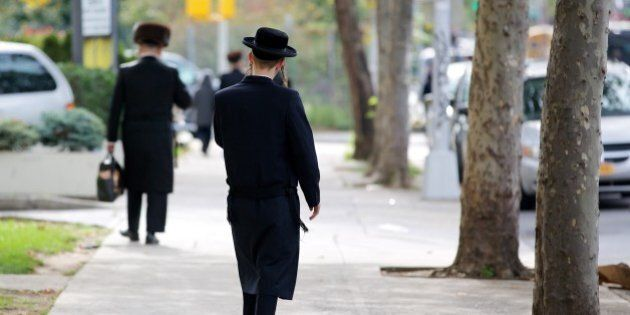 Picture of a young Hasid Jewish boy in Williamsburg, New York