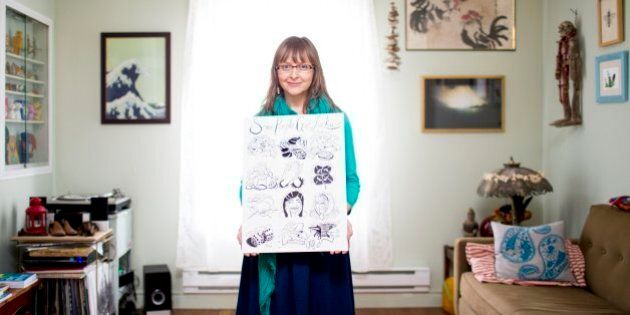 TORONTO, ON - APRIL 7  -  At 37, Teva Harrison's world turned upside down when she was diagnosed with incurable breast cancer, which means treatment for the rest of her life. To cope, she started to draw and write. The result is a powerful graphic memoir called In-Between Days.        (Carlos Osorio/Toronto Star via Getty Images)