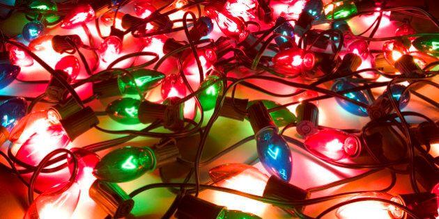 Lit String of Holiday Lights