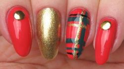 Celebrate The Holidays With This Plaid Nail