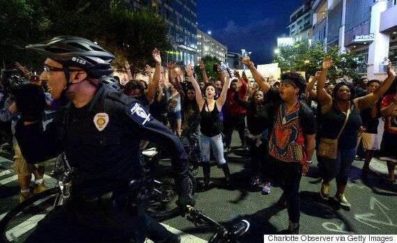 Black Lives Matter Protest In Charlotte Turns