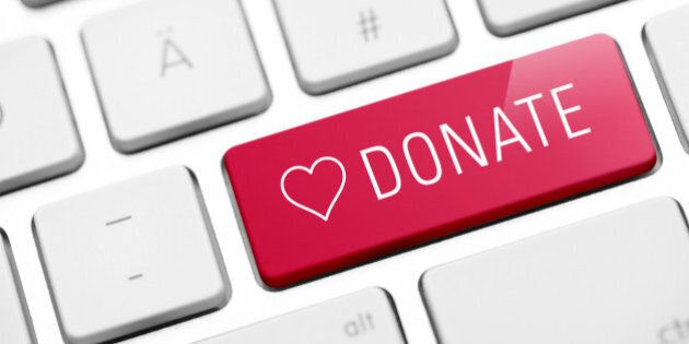 online donate key on