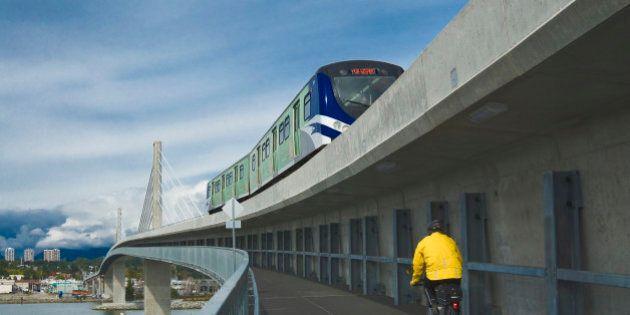Canada Line skytrain bridge, Vancouver, British