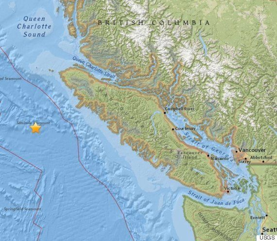 B.C. Earthquake Jolts Area Off Vancouver Island For 2nd Time This