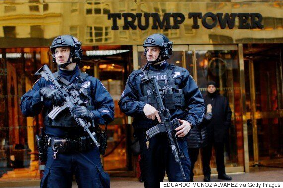 Tiffany-Branded Barricade At Trump Tower Is Latest Sign Of