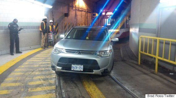 Toronto Driver Blames GPS After Ending Up In Streetcar