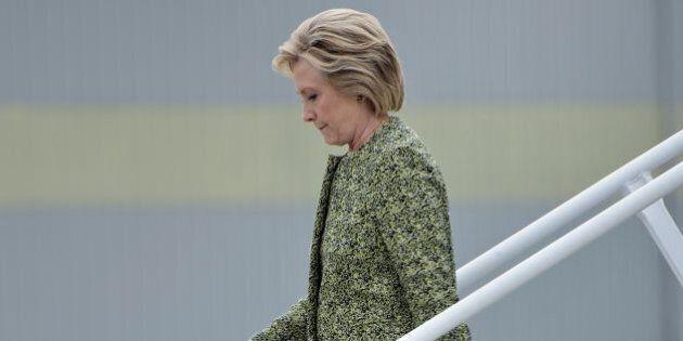 Democratic presidential nominee Hillary Clinton arrives at Philadelphia International Airport September...