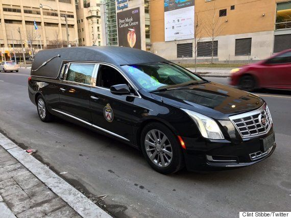 Toronto Police Hearse Pulls Over Distracted
