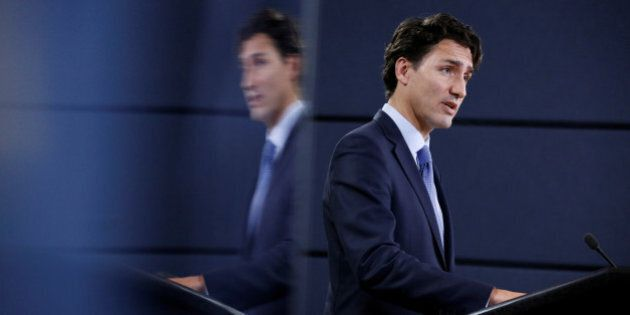 Canada's Prime Minister Justin Trudeau speaks during a news conference in Ottawa, Ontario, Canada, November...