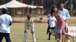 Will And Kate Go To Bat vs. A Cricket Legend In