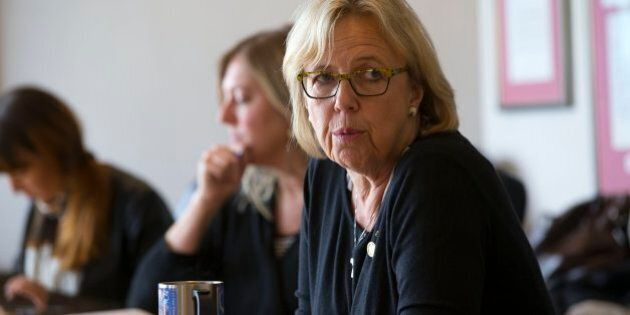 TORONTO, ON - OCTOBER 8: Green Party of Canada leader Elizabeth May meets with the Star's Editorial Board.        (Chris So/Toronto Star via Getty Images)
