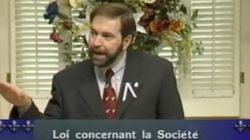 Video Surfaces Of Mulcair Selling Thatcher's Neo-Liberal