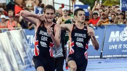 Triathlete Gives Up On Glory To Carry Brother Over Finish