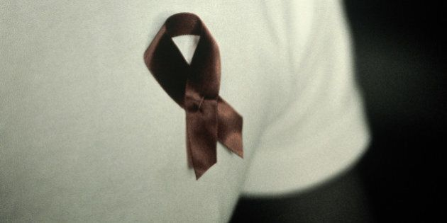 Ribbon is for Terence Higgins
