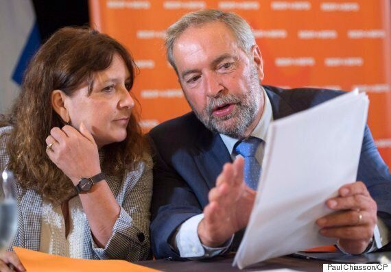Mulcair's Wounded NDP Woos Progressive Voters To Stop Bleeding Support To