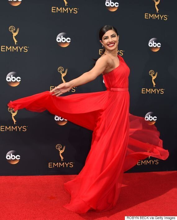 Priyanka Chopra Emmys 2016: 'Quantico' Star's Crimson Dress A