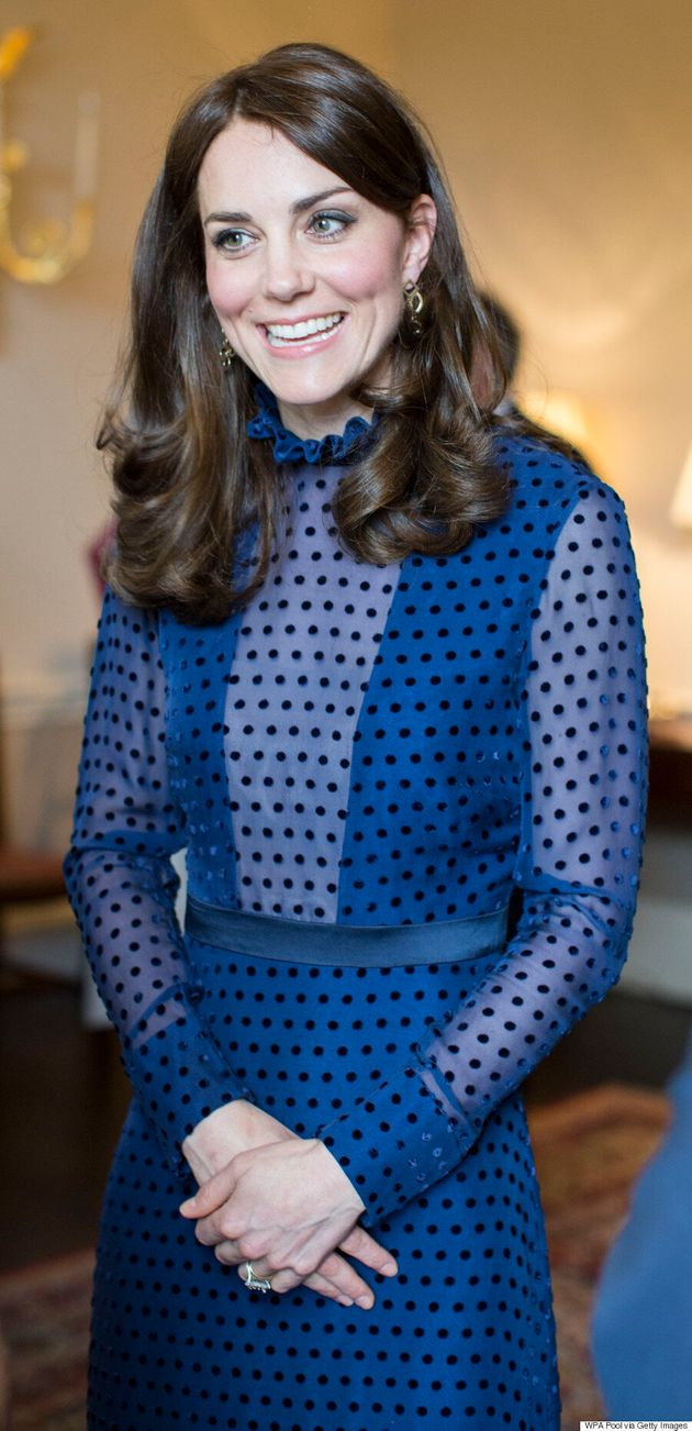 Kate Middleton Dons Sheer Polka-Dotted Dress By Indian-Born Designer Saloni
