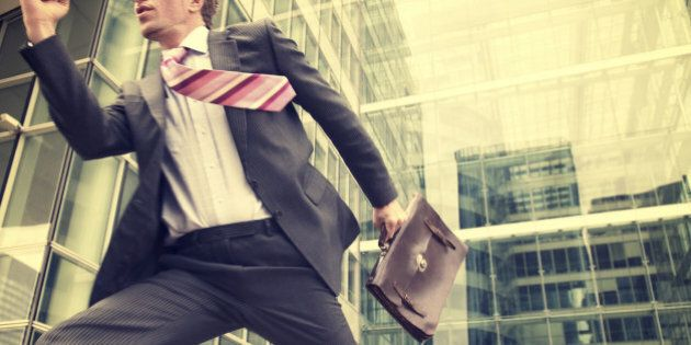 Businessman Makes Heroic Dash from