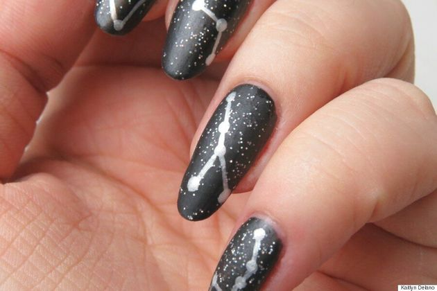 Nail Art: A Starry Constellation Manicure For You To