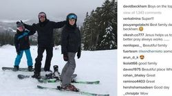 Beckham Family Can't Resist Instagramming Their Whistler