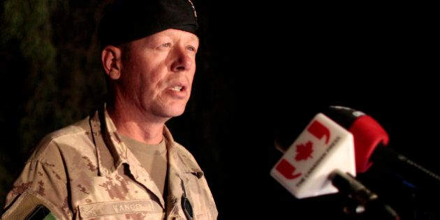 Brigadier-General Jonathan Vance, head of Canadian Forces in Afghanistan, announces the death of a Canadian...