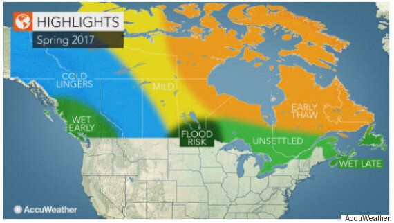 Canada Spring Forecast 2017 From AccuWeather Is A Real Mixed