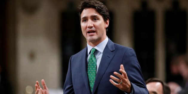 Canada's Prime Minister Justin Trudeau speaks during Question Period in the House of Commons on Parliament...