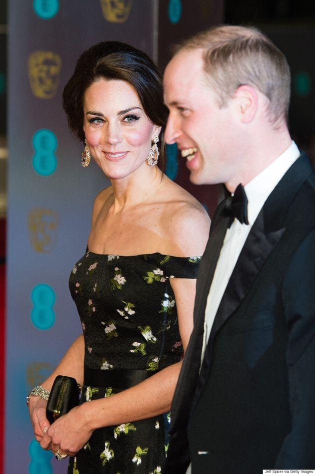 The Duchess Of Cambridge Dazzles In Alexander McQueen At 2017 BAFTA