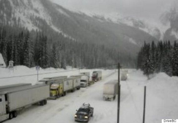 B.C. Highways Paralyzed By Winter Storm Of Freezing Rain,