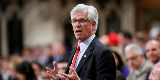 Canada's Natural Resources Minister Jim Carr speaks during Question Period in the House of Commons on...