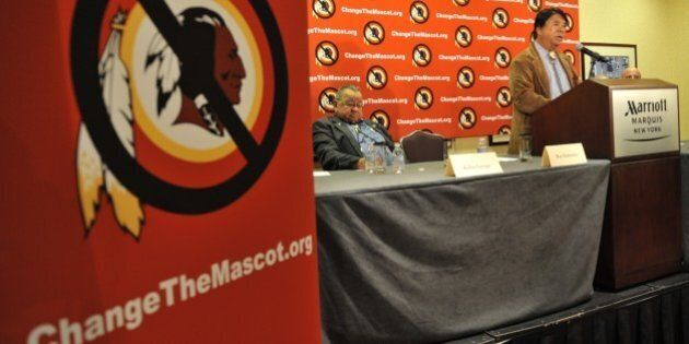 Ray Halbritter, Oneida Indian Nation Representative, speaks at a press conference after meeting with...