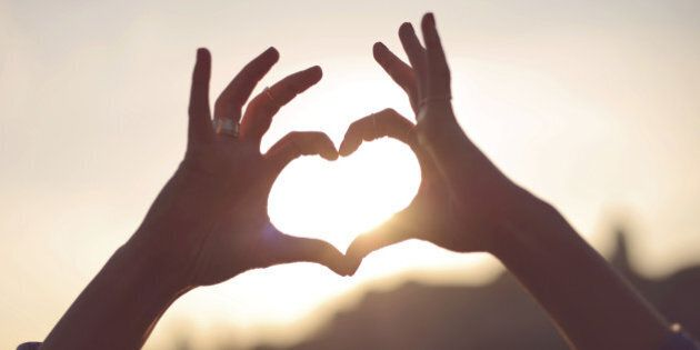 Hands showing heart for the