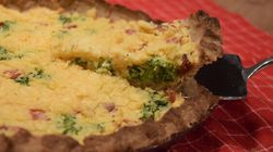 Ham And Broccoli Quiche Gets An Allergy-Friendly
