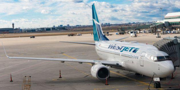 PEARSON INTERNATIONAL AIRPORT, TORONTO, ONTARIO, CANADA - 2016/02/01: Westjet Boeing 737-800 at Pearson...