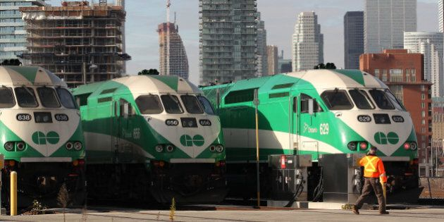 TORONTO, ON - NOVEMBER 14: Transportation minister Bob Chiarelli and Bruce McCuaig from Metrolinx announce...